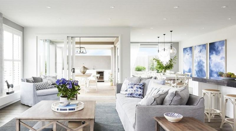 hamptons living room ideas slip cover sofa Hamptons House Style