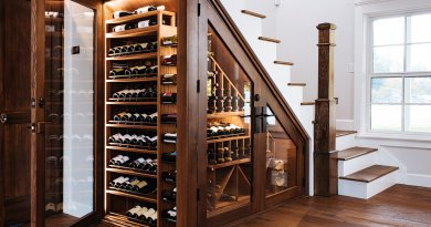 sommi under stairs wine cellar 01 Kid's study room and workspace