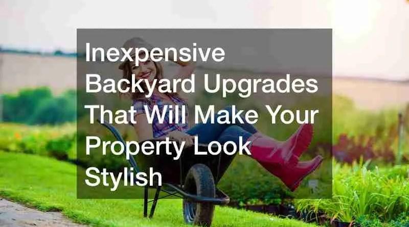Backyard 1 Inexpensive Backyard Upgrades