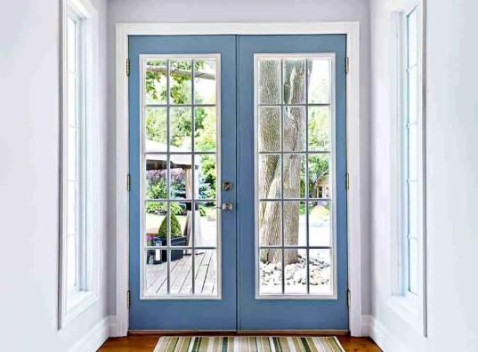 wooden french door