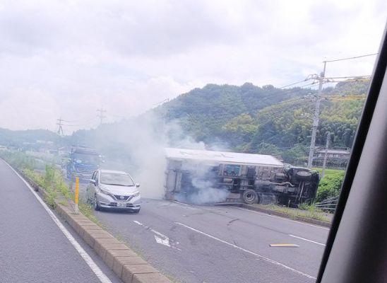 山口県下松市生野屋南の国道2号線で複数台絡む事故発生!現場の状況や画像など