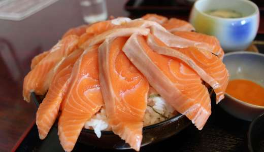 鳥取境港の海鮮丼が有名なお店「ぶっこん亭」で特大サーモン丼に驚愕した!