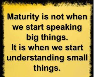 Maturity and experience