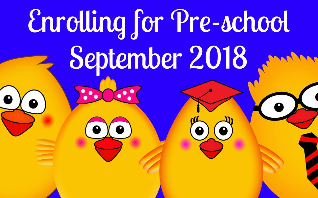 Enrol Now for a September 2018 FREE Pre-school Place