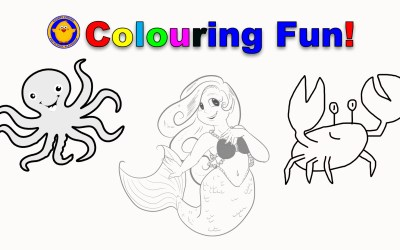 Colouring Fun from Little Blue Boy!