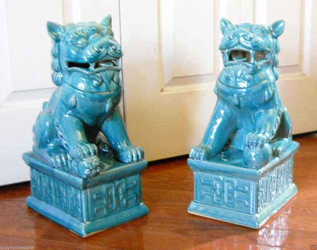 3 Father's Day Gifts Ideas - Airplane, Sea Horse and 2 Foo Dogs