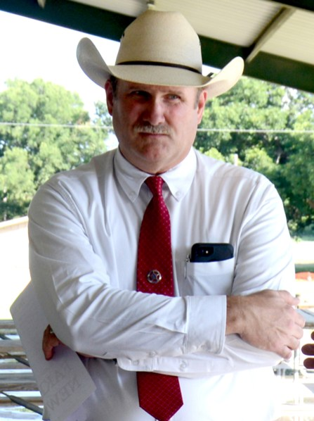 Bosque County Sheriff Candidate Clint Pulllin at the Bosque County Republican Club Party in the Park event June 16.