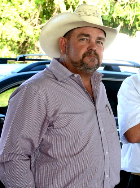 Bosque County Sheriff Candidate Trace Hendricks at the Bosque County Republican Club Party in the Park event June 16.