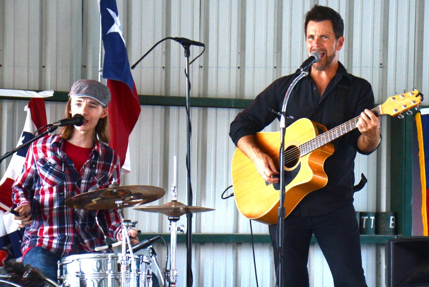 The Bosque Gents – Brian and Bryce Barrett – perform at the Bosque County Republican Club Party in the Park event June 16.