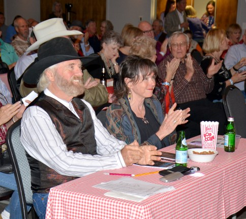 Michael Martin Murphey and wife Cindy judge the 2018 Bosque Arts Center Texas Troubadour Songwriter Classic.