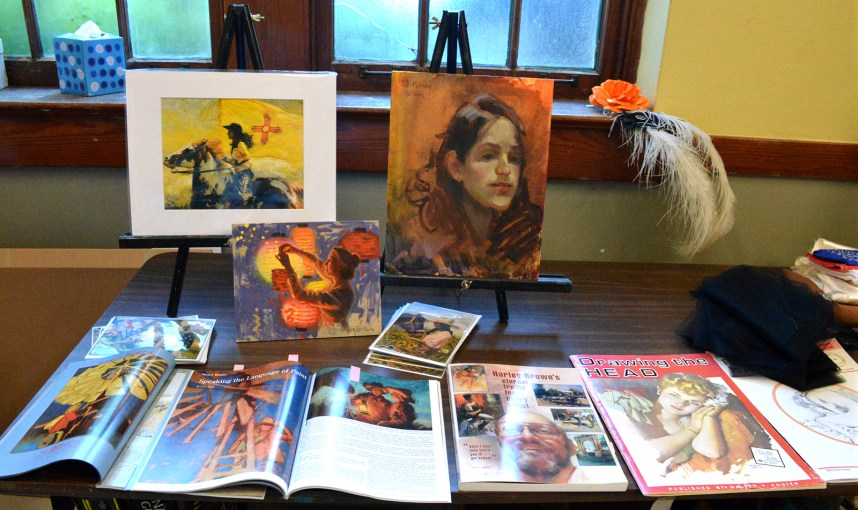 Some of Nancy Boren's artwork on display.