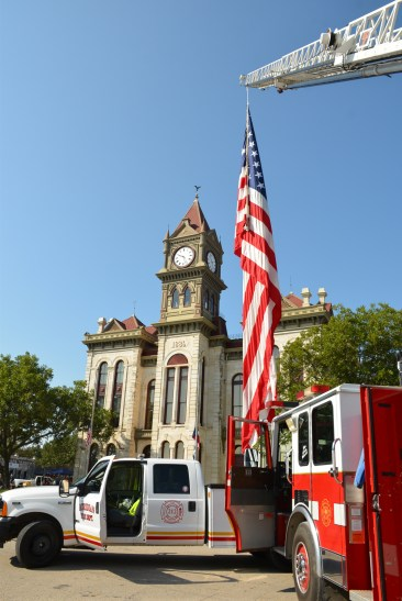 Bosque County first responders gather for the annual Patriot's Day ceremony at the Bosque County Courthouse in Meridian.