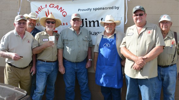 The Chili Gang often lends their support to the Meridian Public Library by cooking their infamous chili for the Fall Supper fundraiser.