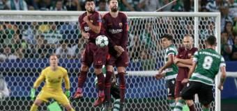 El Barça sufre para llevarse la victoria en Lisboa