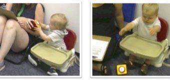 Bebés que ven a adultos esforzarse son más persistentes