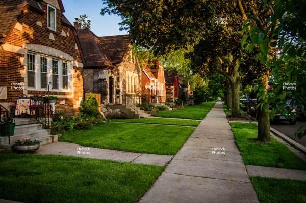 Schorsch Village Dunning Street Lined with English Tudors