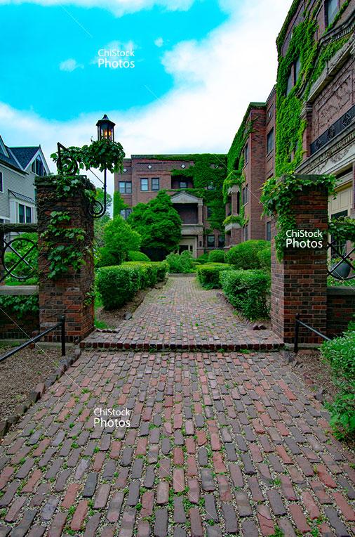 Hyde Park Apartments Side Street Sidewalk