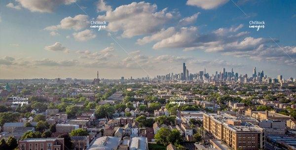 Aerial View Of Bridgeport Chicago