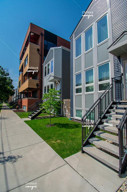 New Construction Gentrification Industrial Hermosa Neighborhood Chicago