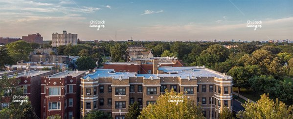 Aerial Drone View of North Lawndale Chicago
