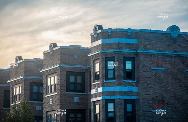 Courtyard Apartment Buildings North Lawndale Chicago