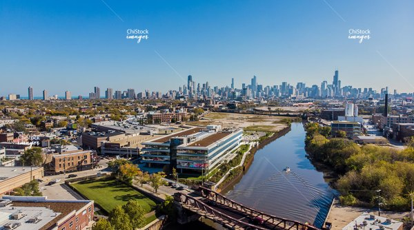 Ashland Avenue Bridge over the North Branch of the Chicago River Lincoln Park Chicago