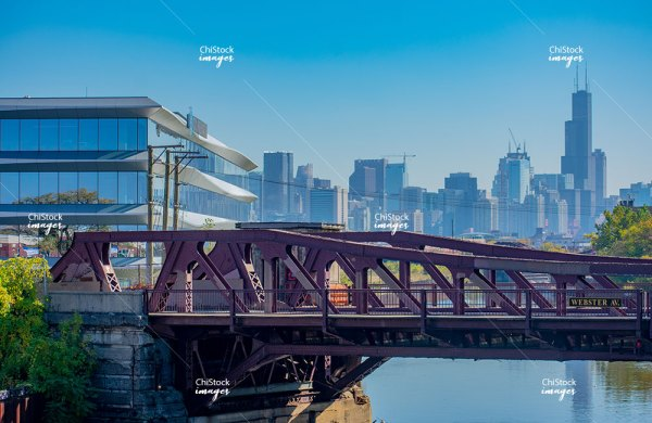 Webster Avenue Bridge over the North Branch of the Chicago River Lincoln Park Chicago