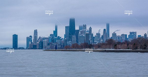 Stormy Lakefront Lake View Chicago
