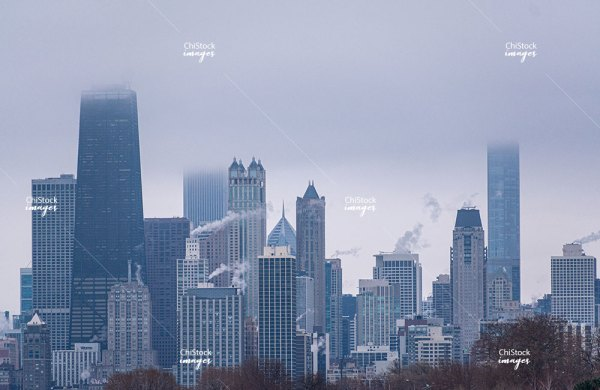 Stormy Skyline From Lake View Chicago