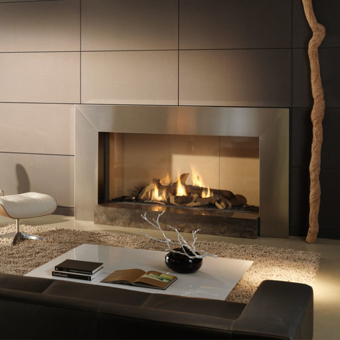 Natural Wood Mantels For Fireplaces Flueless Gas Fires - Glass Fronted - Chiswell Fireplaces