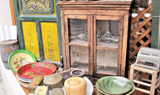 Greece Art Shop Antiques Wood Items