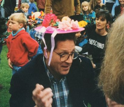 50 years of Green Days 1995 Gavin Campbell judging the hat contest