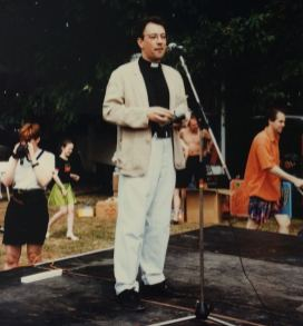50 years of Green Days 1996 Fr Kevin at microphone