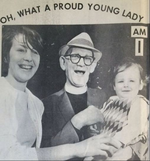 50 years of Green Days 1969 Fr Jack Jenner baby and mum