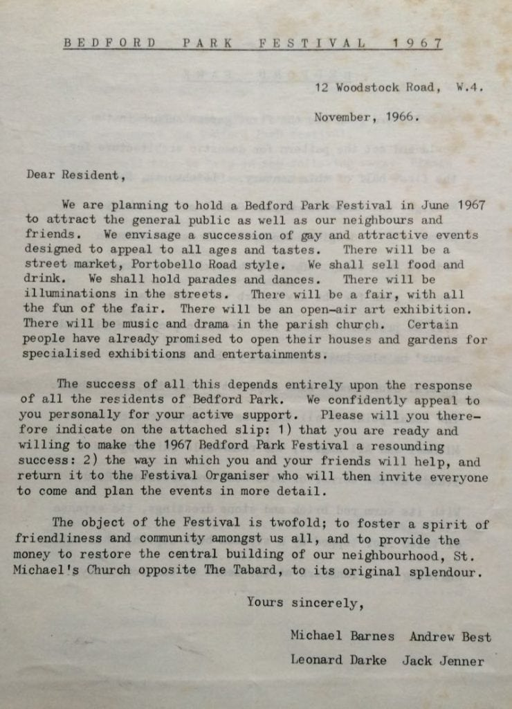 50 years of Green Days St Michaels 1966 images letter from committee