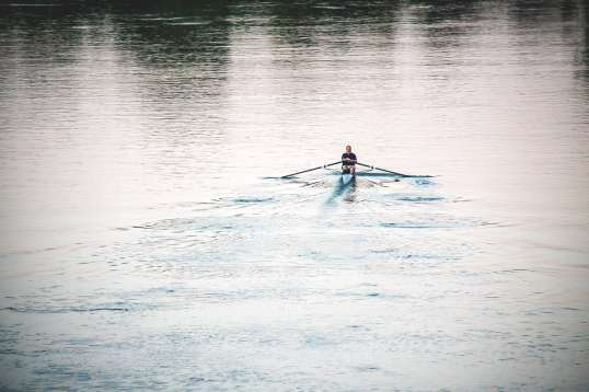 Chiswick Calendar Photographers Anna Kunst rower on Thames
