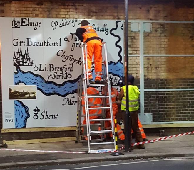 Chiswick Timeline installation Thursday 9 January