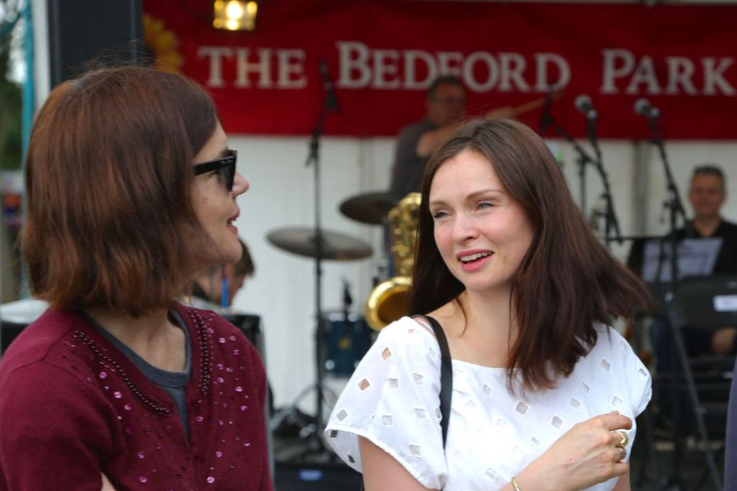 Torin Douglas MBE Elizabeth McGovern and Sophie Ellis Bextor at Green Days 2016