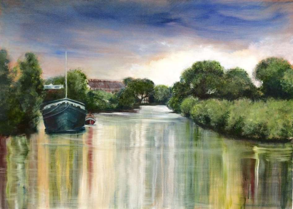 2017 Artists at Home Arabella Harcourt-Cooze - Between the Eyot and the Mall