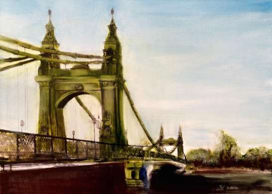 2017 Artists at Home Arabella Harcourt-Cooze - Hammersmith bridge