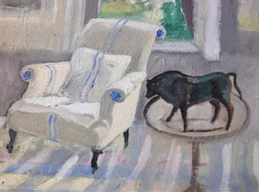 2015 Artists at Home Caroline Mauduit 2, Anthea's Chair with Bison
