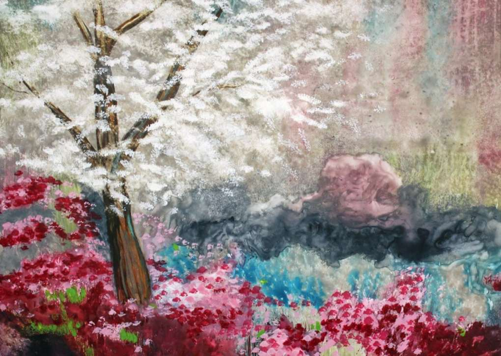 2016 Artists at Home Lorraine Belloni, Blossom Time close