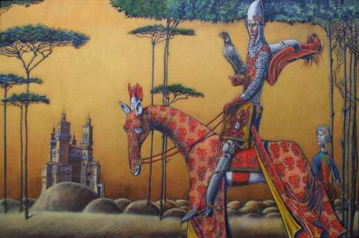 2016 Artists at Home Peter Thornborough, Cangrande della Scala Rides Out