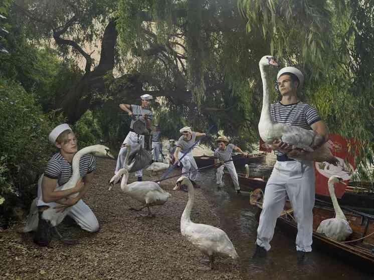 Old Father Thames, Swan Uppers - Julia Fullerton-Batten