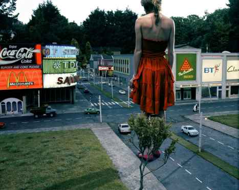 Teenage Stories, Red Dress in City - Julia Fullerton-Batten