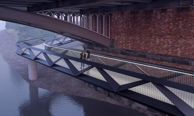 Dukes Meadow pedestrian bridge 2