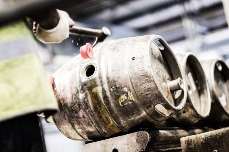 Fuller's brewery kegs web image