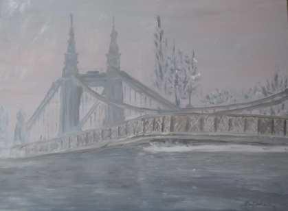 'Hammersmith Bridge in the Snow' by Natalia Bobrova