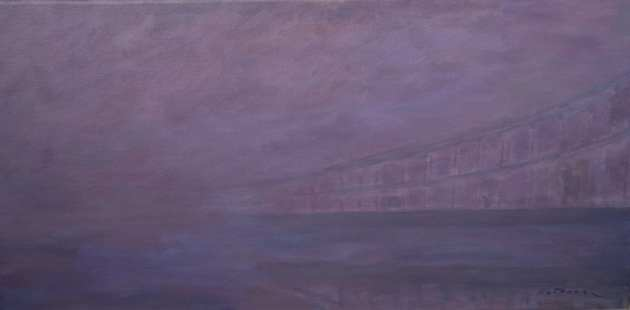'Hammersmith Bridge in the Fog' by Natalia Bobrova