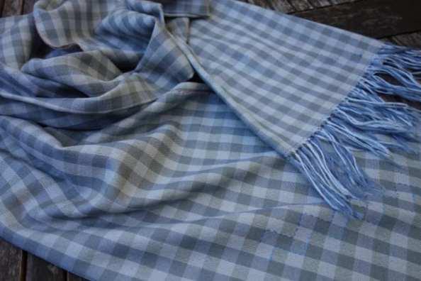Silk & Cashmere Scarf with Stitched Detail by Bobbie Kociejowski